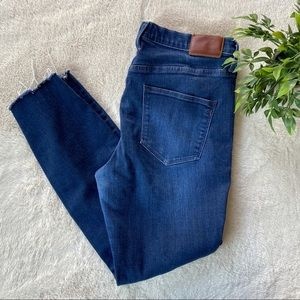 Madewell High Rise Ripped Destroyed Skinny Jeans